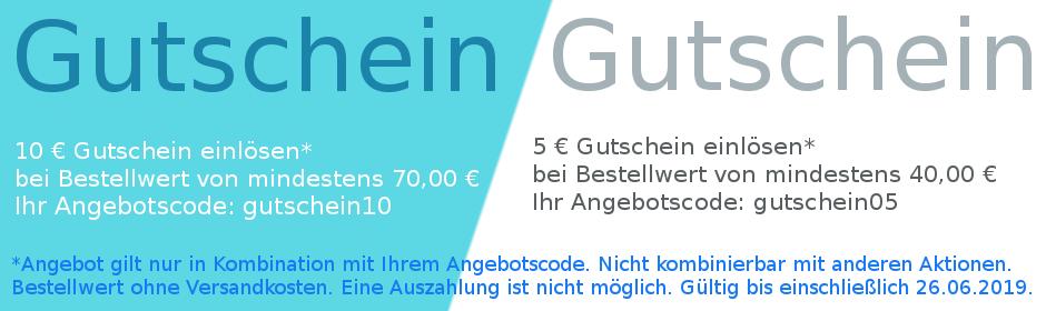 10 € bzw. 5 € Gutschein